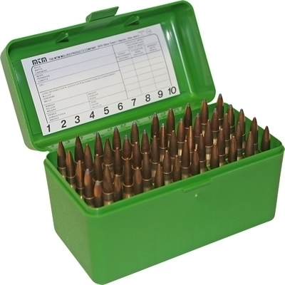 Picture of MTM Ammo Box 50 RD Rifle Flip-top (Green)