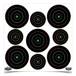 Picture of BIRCHWOOD CASEY DIRTY BIRD® 2 INCH & 3 INCH MULTI-COLOR BULL'S-EYE TARGETS