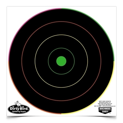 Picture of BIRCHWOOD CASEY DIRTY BIRD 8 INCH MULTI-COLOR BULL'S-EYE TARGET (20)